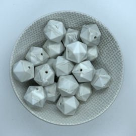 Icosahedron 17mm - warm marmer
