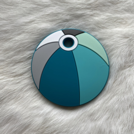 strandbal bijtfiguur - mint/turquoise tinten