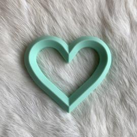 Hart met 2 gaten - mint