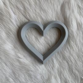 Hart met 2 gaten - licht grijs