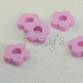 Rond bloemetje - baby roze
