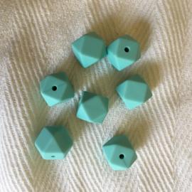 Kleine hexagon - aruba blauw