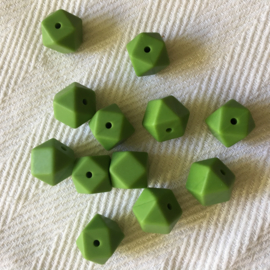 Kleine hexagon - donker groen