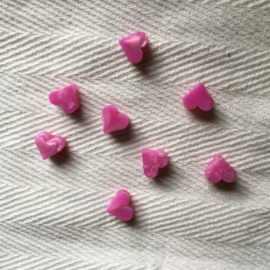 Small heart - pearl fuchsia