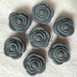 Small flower - dark grey