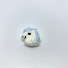 Eenhoorn kraal - pastel blauw