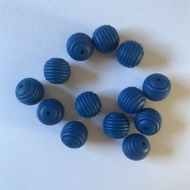15mm geribbeld - sapphire blauw