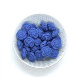 Kleine bloem - jeans blauw