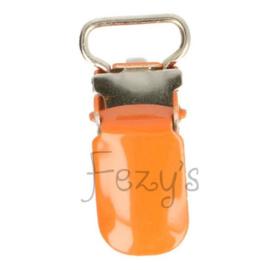 Speenclip metaal 10mm - oranje