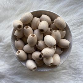 Houten kraal - olijf 19,5mm