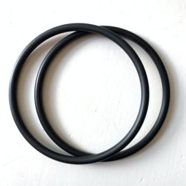Slingringen maat XL - zwart mat