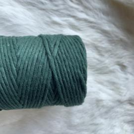 Macramé single twist - donker groen