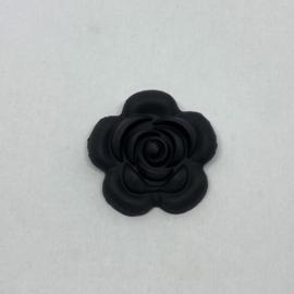 Grote bloem - zwart