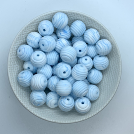 15mm striped - marble blue