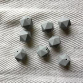 Icosahedron 17mm - licht grijs