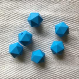 Icosahedron 17mm - hemels blauw