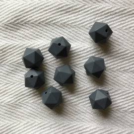 Icosahedron 17mm - donkerder grijs
