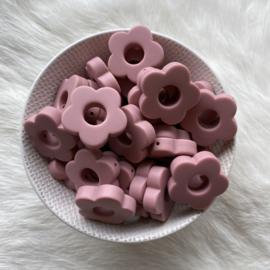 Round flower bead - blush 2