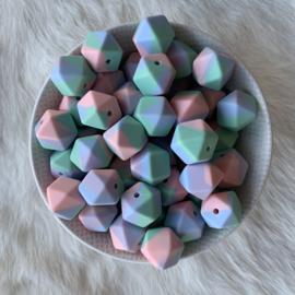 Kleine hexagon - tie dye pastel