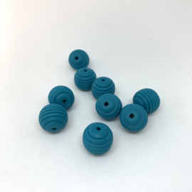 15mm striped - dark cyane