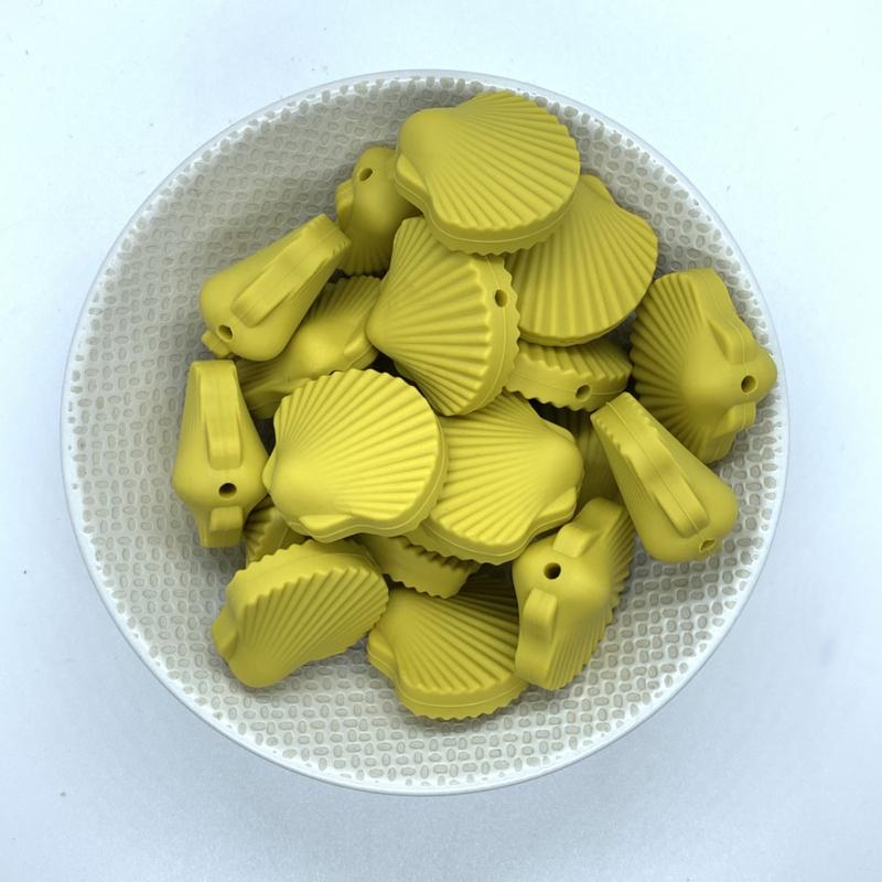 Sint Jacobs schelp kraal - mosterdgeel