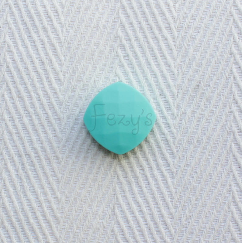 Gefaceteerd vierkant - turquoise