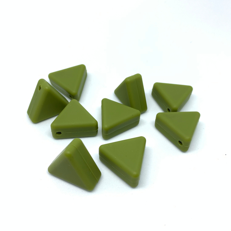 Driehoek kraal - willow groen
