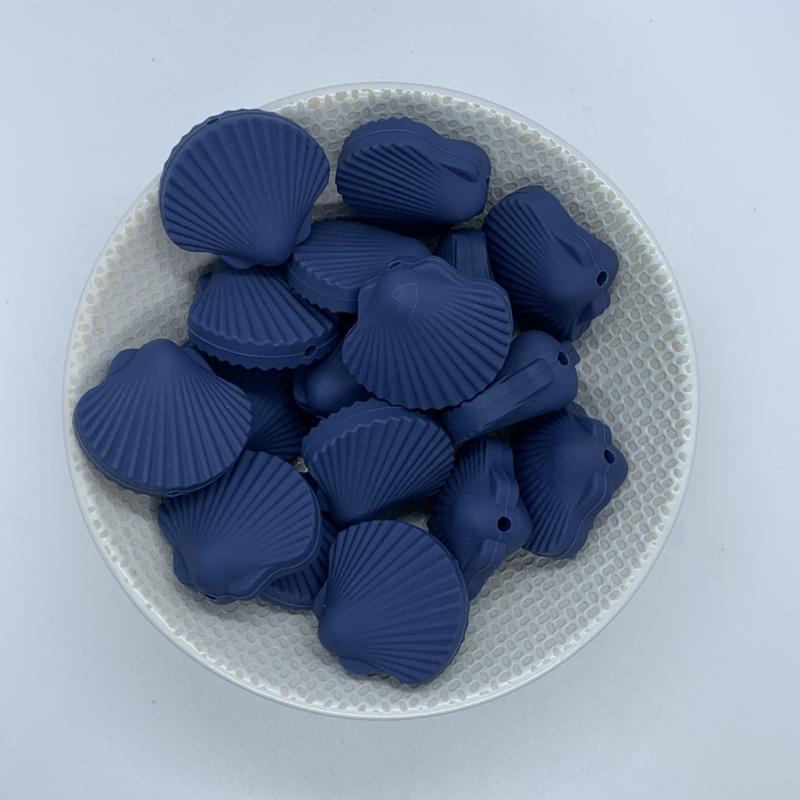 Sint Jacobs schelp kraal - nacht blauw