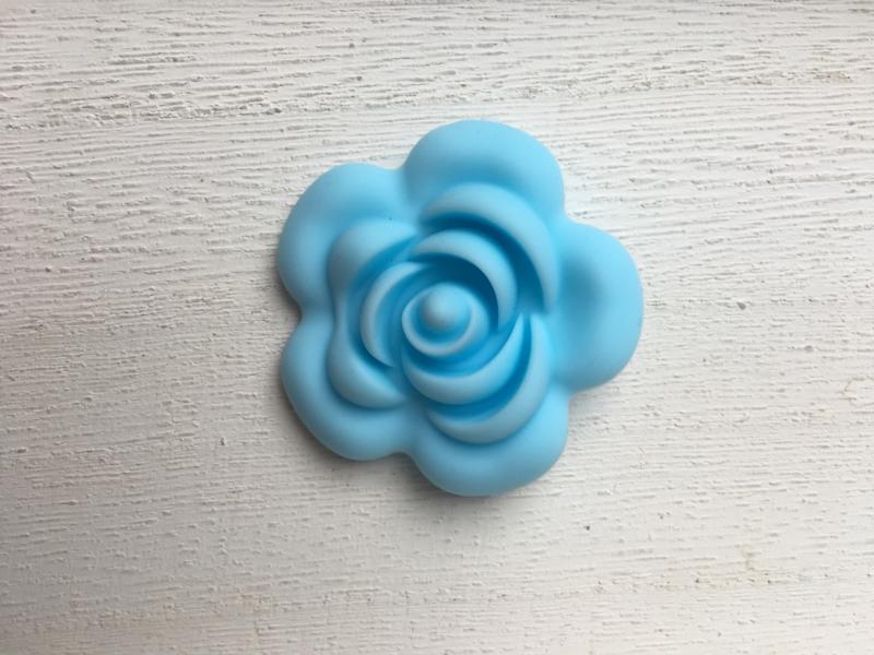 Grote bloem - baby blauw