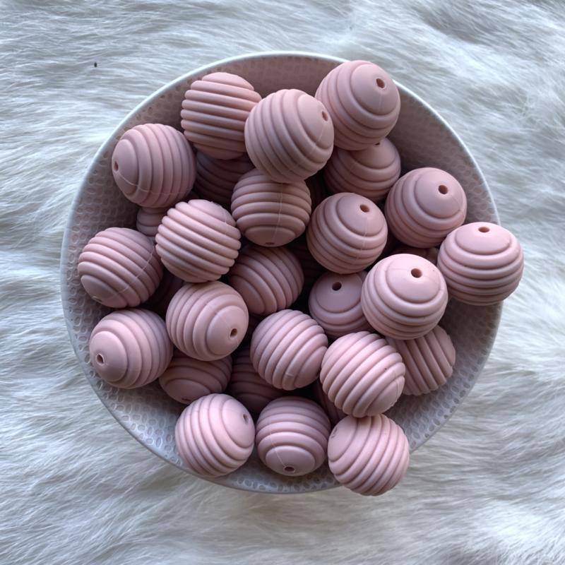 19mm geribbeld - oud roze