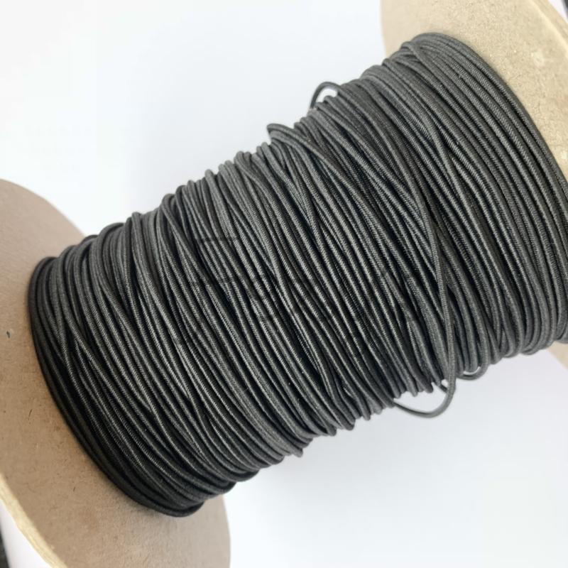 Elastisch koord 1,5mm - zwart