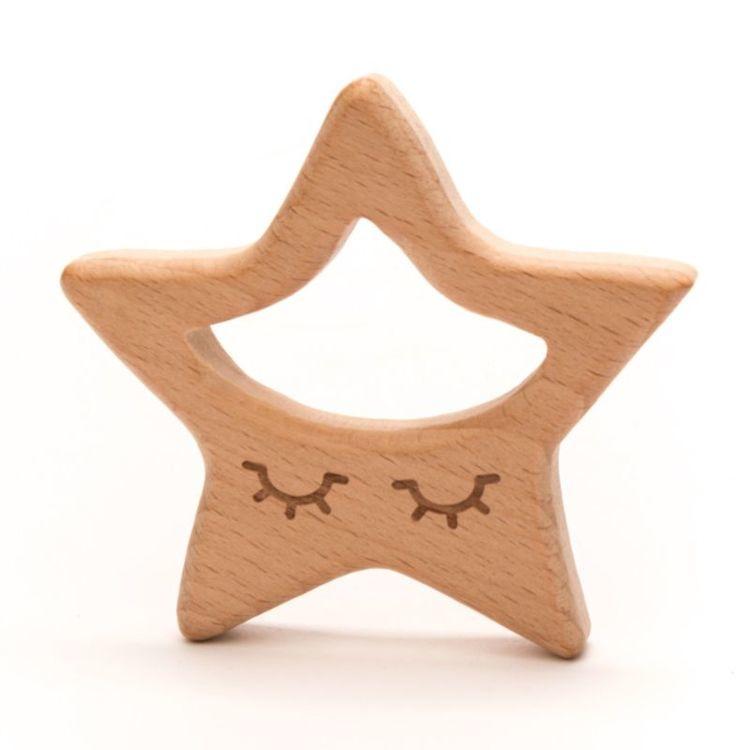Houten bijtfiguur durable - ster