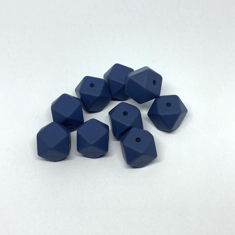 Kleine hexagon - nacht blauw