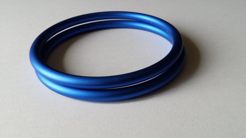 Slingringen maat M - blauw mat
