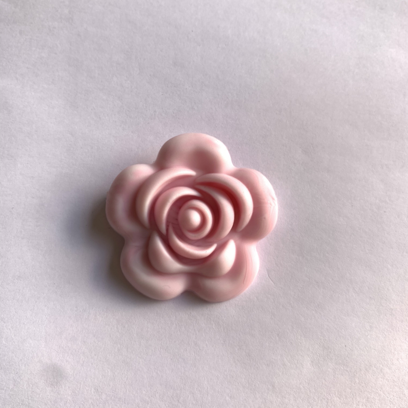 Grote bloem - marmer zacht roze