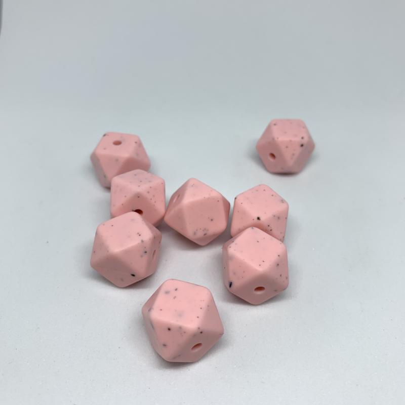 Kleine hexagon - licht roze dalmatier