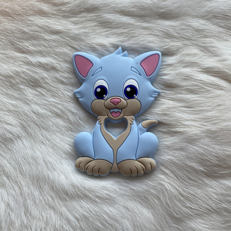 Cat teether - soft blue