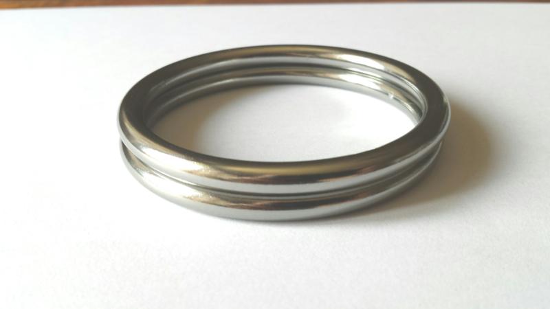 Slingringen maat M - zilver glimmend