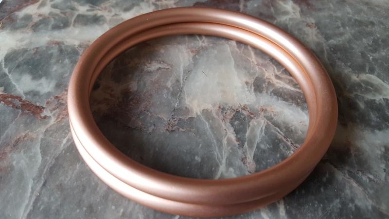 Slingringen maat M - roze rosé goud mat