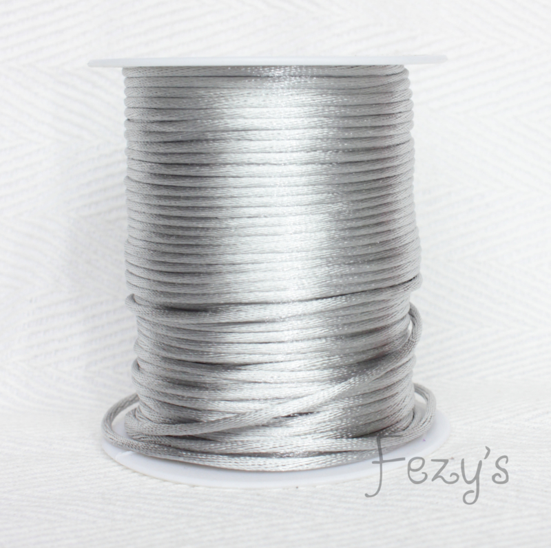 Satijnkoord - grijs
