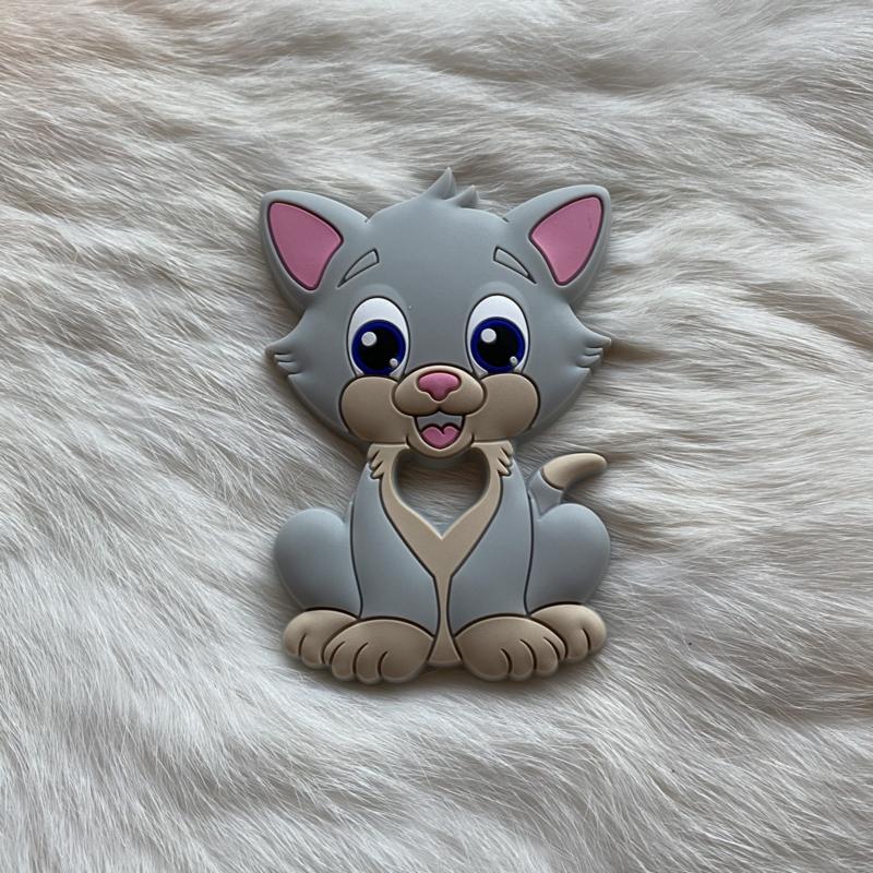 Cat teether - light grey