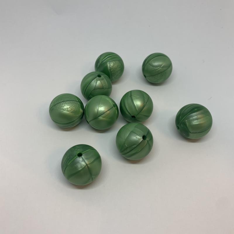 19mm - parelmoer groen
