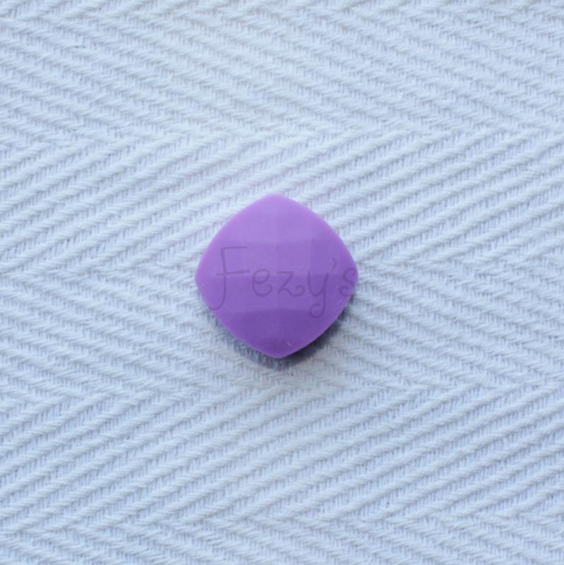 Gefaceteerd vierkant - paars