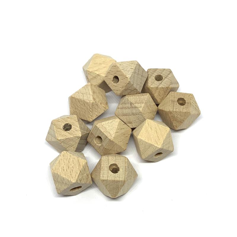 Houten hexagon - 14mm (beuk)