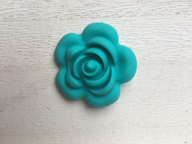 Grote bloem - turquoise