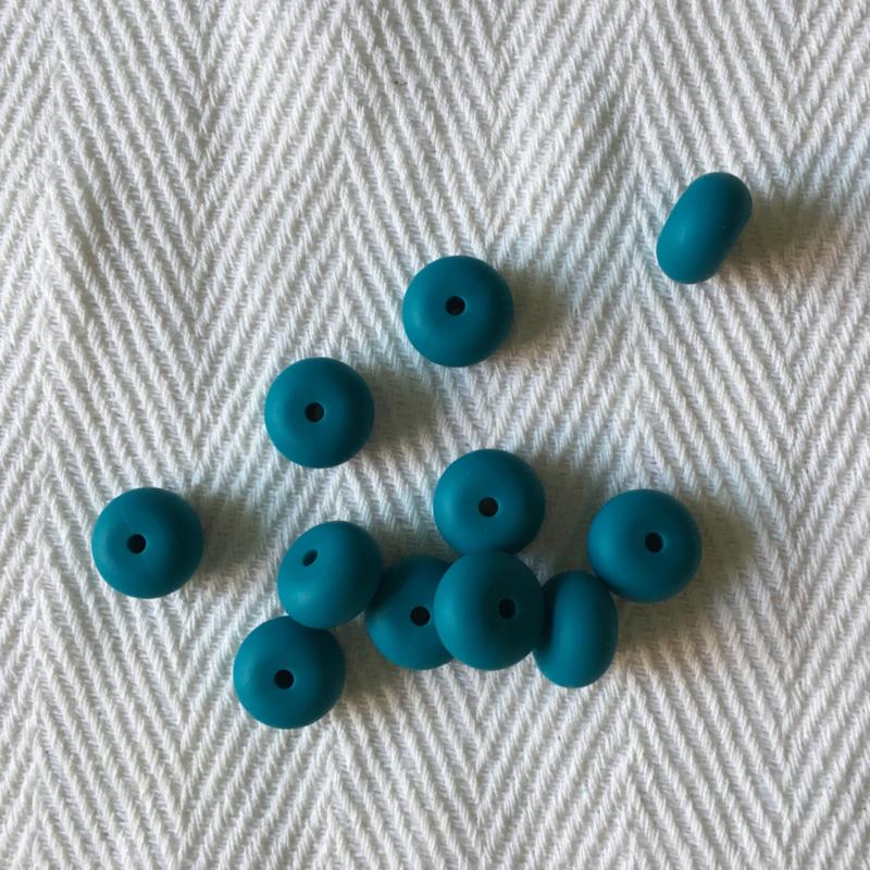 Kleine abacus - donker cyaan