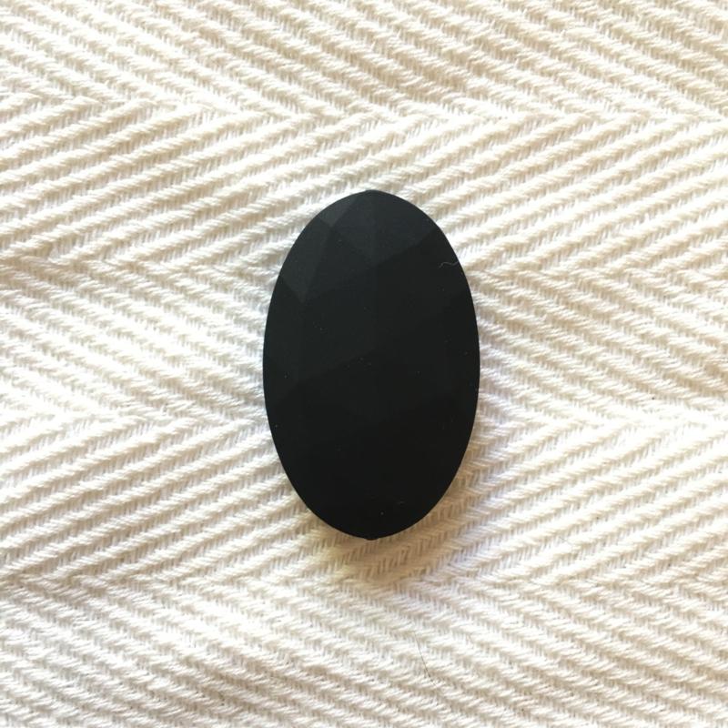 Groot ovaal - zwart