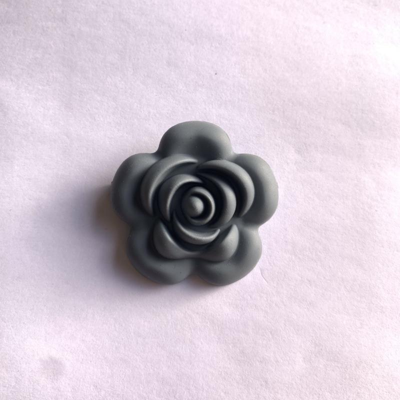 Grote bloem - donker grijs