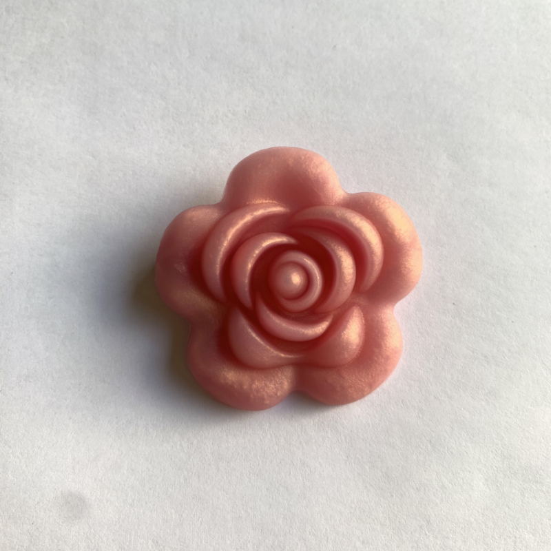 Grote bloem - rose goud parelmoer