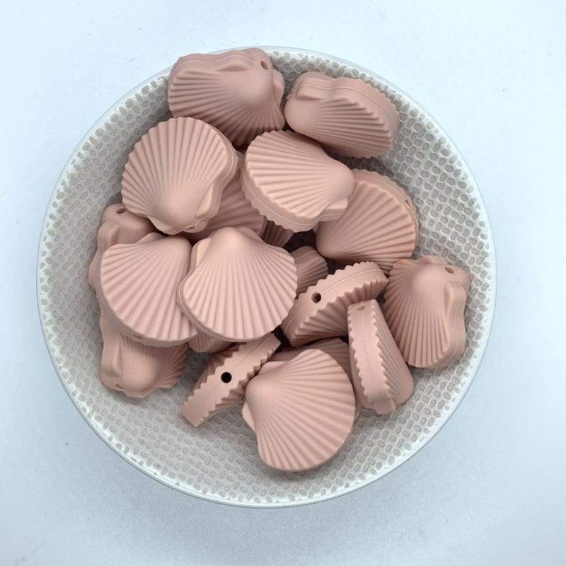 Sint Jacobs schelp kraal - vintage roze